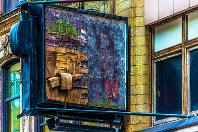 Old Store Sign Pittsburgh Pennsylvania V4 Dsc0917 Poster by Raymond Kunst