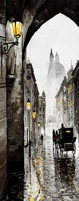 Old Street Poster by Yuriy  Shevchuk