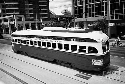 Old Style Toronto Transit System Ttc Tram Streetcar Ontario Canada Poster by Joe Fox
