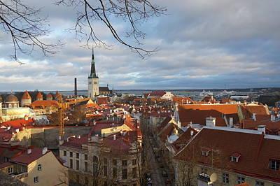 Old Tallinn Downtown Poster
