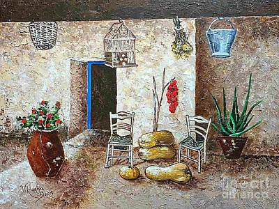 Old Tavern In Chios Greece Poster by Viktoriya Sirris