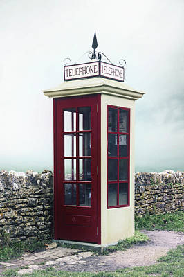Old Telephone Booth Poster