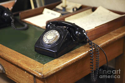 Old Telephone Poster by Patricia Hofmeester
