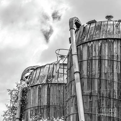 Poster featuring the photograph Old Texas Wooden Farm Silos by Edward Fielding