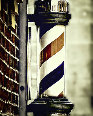 Old Time Barber Pole Poster