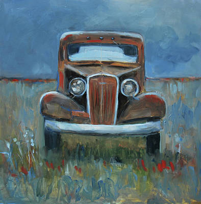 Poster featuring the painting Old Timer by Billie Colson