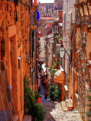 Poster featuring the photograph Old Town Dubrovniks Inner Passages by Lance Sheridan-Peel