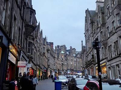 Old Town Edinburgh Poster by Margaret Brooks