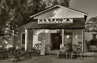 Old Town General Store Sepia Tone Poster