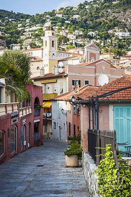 Old Town In Villefranche-sur-mer Poster