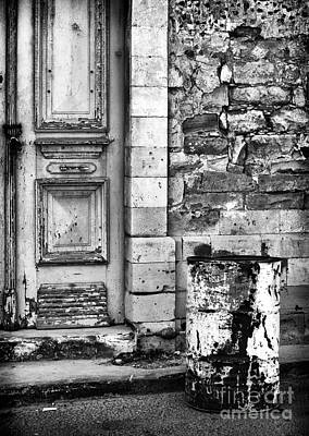 Old Town Limassol Black And White Poster