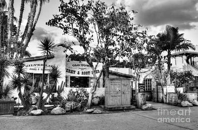 Old Town San Diego Bw Poster