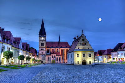 Old Town Square In Bardejov, Slovakia,hdr Poster by Elenarts - Elena Duvernay photo