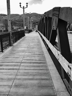 Old Town Temecula Bridge Bw Poster
