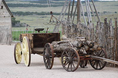 Old Tractor And Wagon In Foreground Cove Creek Fort Photography By Colleen Poster