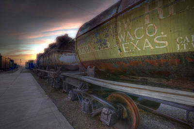 Poster featuring the tapestry - textile Old Train - Galveston, Tx 2 by Kathy Adams Clark
