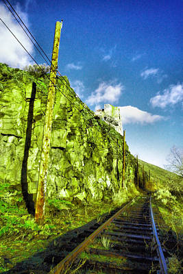 Poster featuring the photograph Old Trolly Tracks by Jeff Swan
