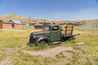 Old Truck At The Ghost Town Of Bodie California Dsc4380 Poster by Wingsdomain Art and Photography