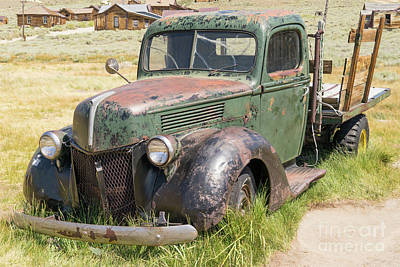 Old Truck At The Ghost Town Of Bodie California Dsc4384 Poster by Wingsdomain Art and Photography