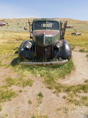 Old Truck At The Ghost Town Of Bodie California Dsc4389 Poster by Wingsdomain Art and Photography