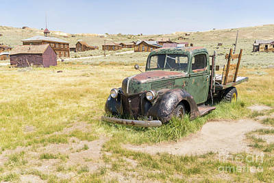 Old Truck At The Ghost Town Of Bodie California Dsc4403 Poster by Wingsdomain Art and Photography