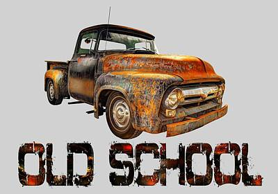 Old Truck Right Attitude Poster by Mal Bray