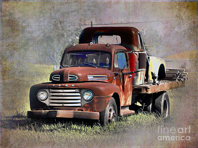 Poster featuring the photograph Old Trucks by Savannah Gibbs