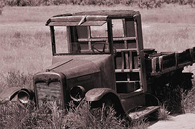 Poster featuring the photograph Old Truck In Sepia by Kae Cheatham