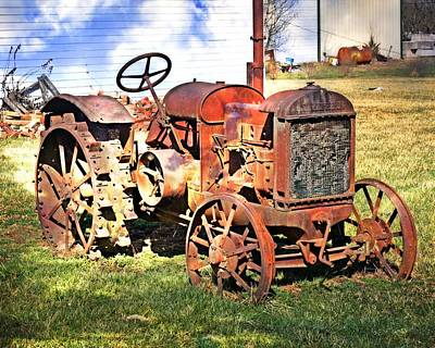 Old Tyme Tractor Poster