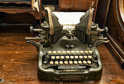 Poster featuring the photograph Old Typewriter by Linda Constant