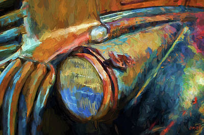 Old Vehicle Viii - Painterly Poster by David Gordon