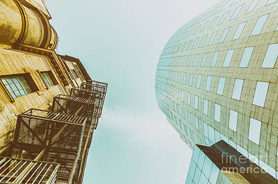 Old Vs New Architecture Poster by Radu Bercan