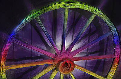Old Wagon Color Wheel Poster by Steve Ohlsen