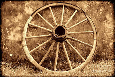 Old Wagon Wheel Poster