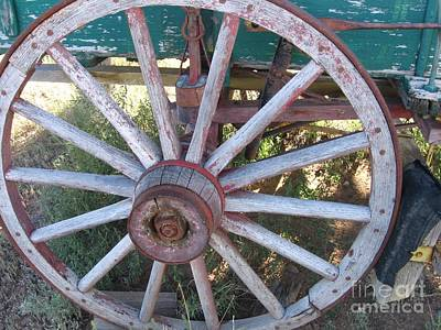 Poster featuring the photograph Old Wagon Wheel by Dora Sofia Caputo Photographic Art and Design