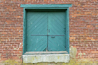 Old Warehouse Loading Door And Brick Wall Poster