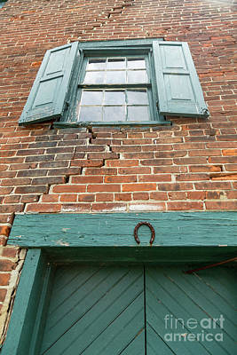 Old Warehouse Window And Lucky Door Poster