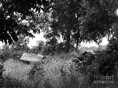 Old Well In Texas Bw Poster by As the Dinosaur Flies Photography