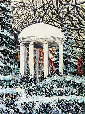 Old Well Winter Poster