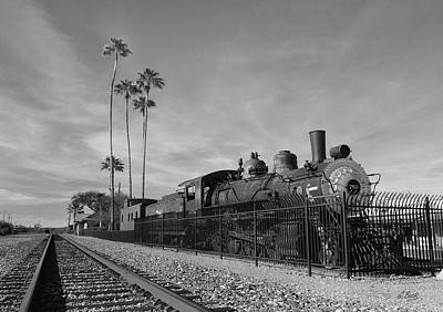Old Wickenburg Locomotive, Monochrome Poster