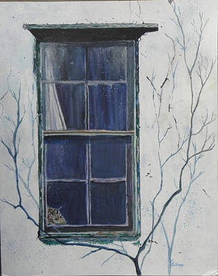 Old Window 2 Poster by Christine Lathrop