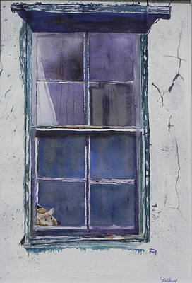 Old Window And New Home Poster by Christine Lathrop