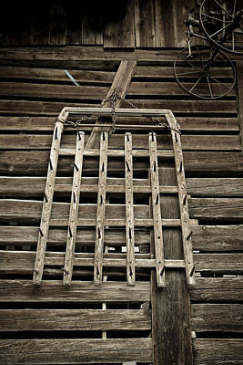 Old Wood Barn Detail Poster by Frank Tschakert