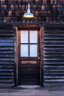 Poster featuring the photograph Old Wood Door And Light by Terry DeLuco
