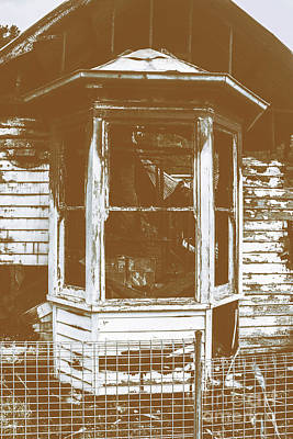 Old Wooden Burnt House Destroyed By Fire Poster