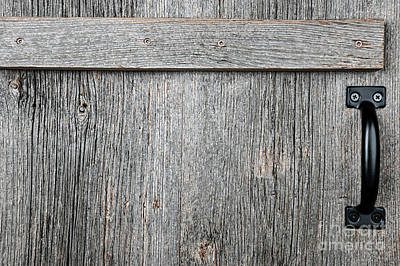 Old Wooden Door Detail Poster