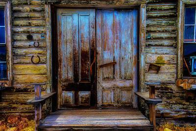 Old Wooden Doors Virgina City Poster