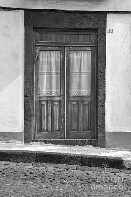 Old Wooden House Door Poster