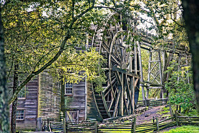 Poster featuring the photograph Old Wooden Mill by Kim Wilson