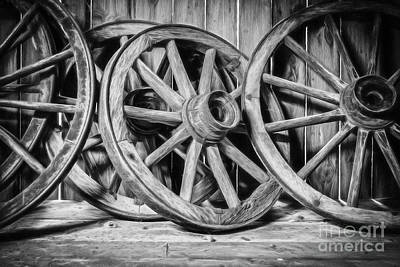 Old Wooden Wheels Poster